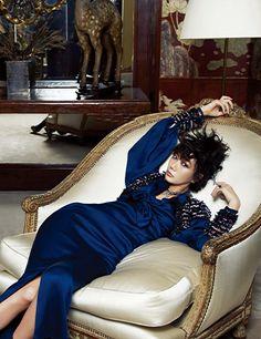 Bae Doo Na in Chanel Pre Fall 2014 by Kim Tae Eun for Harper's Bazaar Korea May 2014 #CocoChanel's apartment