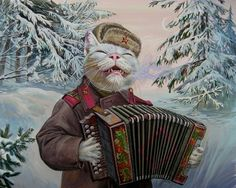 Epical Сats By Alexandr ZavalaPainter Alexander Zavala residing in Gelendzhik, painted in the style of a historical series of paintings about animalism epic cats.