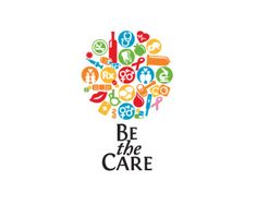 Puzzle pattern logo design: Be the Care