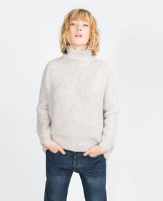 SWEATER WITH A ROLL-NECK COLLAR-View all-Knitwear-WOMAN | ZARA United States