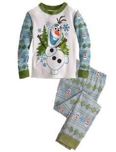 OLAF PJ'S  Price: $12.99, Free Shipping Options: 2T, 4T, 5, 6, 7  Comment sold then click on the picture to purchase :)
