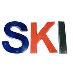 "Set of 3 metal letters.  Product: 3-Piece décor setConstruction Material: MetalColor: Blue, orange and greenDimensions: Letter S: 24"" H x 18"" W Letter K: 24"" H x 18"" W Letter I: 24"" H x 4"" W"