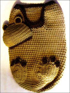 Baby Bear Cocoon and Beanie (I would want one if I had a baby) so cute!