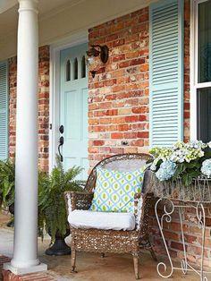 Exterior Home Design Curb Appeal Porches 26 Ideas Exterior Paint Colors For House, Paint Colors For Home, Paint Colours, Exterior Colors, House Shutter Colors, Pastel Colors, Brick House Colors, House Exterior Color Schemes, Orange Brick Houses