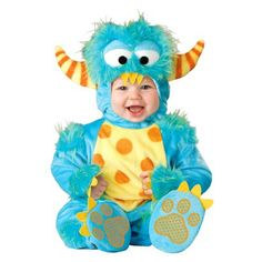 Infant/Toddlers' Lil Monster Costume. Includes jumpsuit, hood, and booties. #Halloween #Monster #Costume