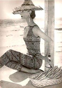 Evelyn Tripp Beach Wear 1955