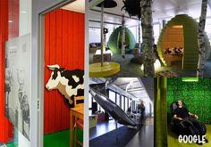 Escritório da Google: trabalhar pode ser uma atividade muito divertida!! O ambiente ajuda muito a nossa vontade não é? Olhem essas fotos , e se perguntem : por que não trabalho em um lugar assim??
