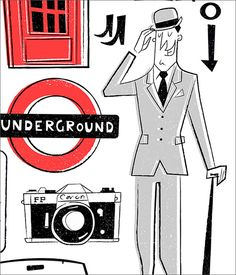 London Scene by Peter Donnelly, via Behance