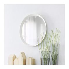 IKEA - LANGESUND, Mirror, white, Provided with safety film - reduces damage if glass is broken. Suitable for use in most rooms, and tested and approved for bathroom use. Basement Flooring, Basement Remodeling, Basement Ideas, Modern Basement, Cheap Office Ideas, Home Studio, Home Renovation, Ikea Yellow, Ikea Mirror