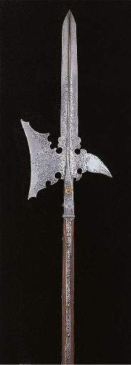 Halberd with etching.  That's such a favorite for me. Germany, 1589 Christie's