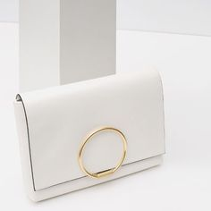 CLUTCH WITH METAL DETAIL from Zara