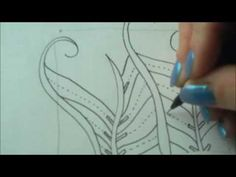 How to draw tanglepattern Finery