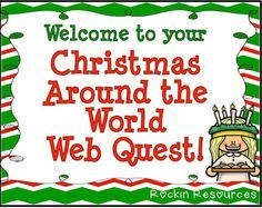 This will take you to a free Christmas Around the World Web Quest! I will do this with our iPads!