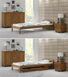 👍 Our beds can be equipped with additional storage drawer which fits under the bed perfectly!.   #singlebed #bedframe #storagedrawer #solidwood #furniture #bedroom