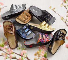 e9ffbdce73f7 Alegria Printed Triple Strap Rocker Sandals - Fiona Padded