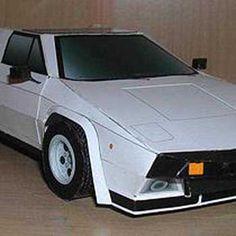 Lamborghini Silhouette P300 Paper Car Free Vehicle Paper Model Download