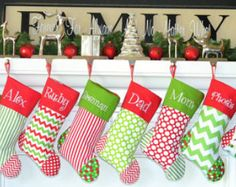 CHRISTMAS STOCKINGS 15 styles to Choose from....  Embroidered.... Personalized...Monogrammed Get a head start for 2014