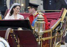 Hochzeit, Kutsche, Flitterwochen: Der schönste Tag im Leben von Prinz William und Kate. Foto: dpa