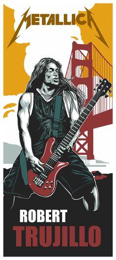 Metallica - Adobe Draw test on Behance Heavy Metal Art, Nu Metal, Heavy Metal Bands, James Hetfield, Rock Posters, Band Posters, Metallica Art, Kirk Hammett, Heavy Rock