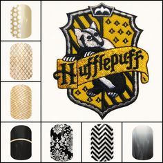 Harry Potter inspired Hufflepuff Jamberry Jen Carey - Jamberry Independent Consultant Shop online at http://jamicureswithjen.jamberrynails.net/