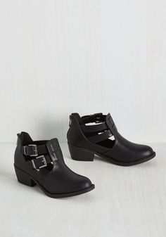 Wander Years Bootie. Unleash your free-spirited nature each time you buckle these black booties. #black #modcloth
