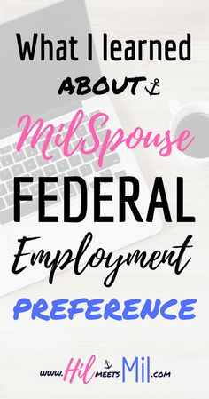 When you're a military spouse a Federal job looks like a golden ticket. It's easy to see the benefit of obtaining a Federal job as a military spouse. It's not so easy to figure out is how to use your military spouse employment preference. #militaryspouse