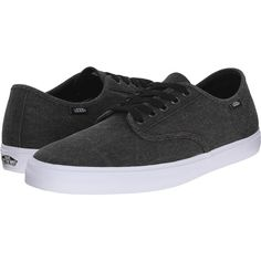 Vans Aldrich SF ((Washed) Black) Men's Shoes ($45) ❤ liked on Polyvore featuring men's fashion, men's shoes, men's sneakers, black, mens lightweight running shoes, mens black sneakers, mens black shoes, mens sneakers and vans mens shoes Black Sneakers, Black Shoes, Men's Shoes, Men's Sneakers, Lightweight Running Shoes, Vans, Mens Fashion, Shoe Bag, Stuff To Buy