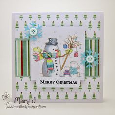 LOTV - Christmas Cuties Art Pad with Festive Trimmings Paper Pad and Christmas Wishes Sentiments by DT Mary J