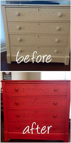 Vintage Market Design Furniture Paint Color Poppy With Natural Umber Wax And A Clear Coat