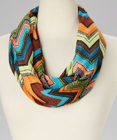 Amtal New Jersey Lightweight Multi Color Chevron Zig Zag Infinity Scarf -- Awesome products selected by Anna Churchill