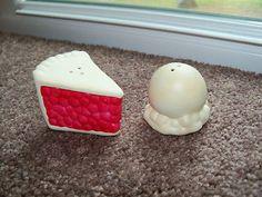 Vintage Arcadia Go with Cherry Pie Ice Cream Salt Pepper Shakers