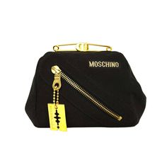 1990s Moschino by Redwall Safety Pin Clutch w/ Razor Charm