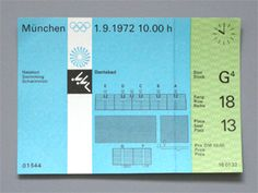 Munich Olympic Waterpolo Ticket, 1972