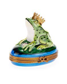 Rochard Limoges Frog & Crown Box