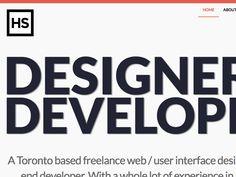 HasanSyed.com / Portfolio by Hasan Syed #website #web #design #portfolio #css #colors #wordpress #responsive #colours #clean