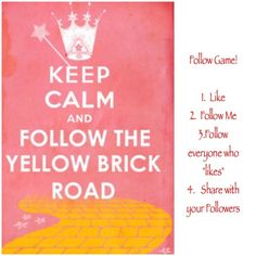 FOLLOW the Yellow Brick Road Game! Let's grow our followers! All Jackets & Coats