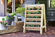HowTo Projects - Bonnie Plants Vertical Herb Planter, Strawberry Pyramid, Raised Bed, Bath Salts and more!