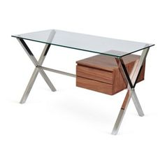 Check out this item at One Kings Lane! Small Beverly Desk, Walnut