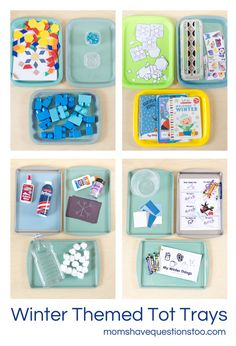 {Winter Tot School Activities} These trays are beautiful! How inspiring!