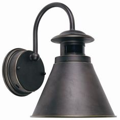 Outdoor Wall Lantern with Motion Sensor, Oil Rubbed Bronze Finish - traditional - outdoor lighting - Home Depot Garage Lighting, Outdoor Wall Lighting, Exterior Lighting, Cool Lighting, Kitchen Lighting, Lighting Ideas, House Lighting, Outdoor Decor, Outdoor Wall Lantern