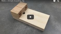 Make a Simple Doweling Jig Woodworking Bench Plans, Woodworking Projects Diy, Woodworking Tools, Diy Projects, Dowel Jig, 3 Piece Canvas Art, Homemade Tools, Wood Furniture, Usb Flash Drive