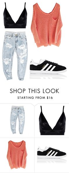 """Untitled #421"" by outfits614 on Polyvore featuring OneTeaspoon, Boohoo and adidas"