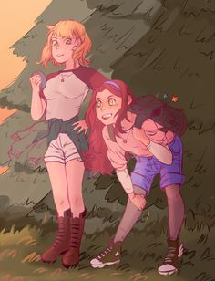 Older GFs exploring the woods together? Yes