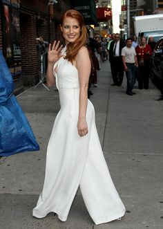 Jessica Chastain – 2014-10-16 – arriving at the 'Late Show with David Letterman' in New York (no. 3672)