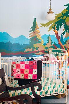 A modern baby room. #baby #bedroom #decor #modern #color #interior #design #decor #casadevalentina