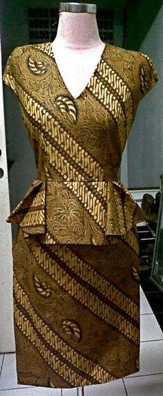 Peplum dress ....... Batik