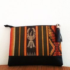 handmade leather clutch!  Designed in Paris made with love in Ecuador!