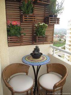 Resultado de imagen para decorar balcones muy pequeños