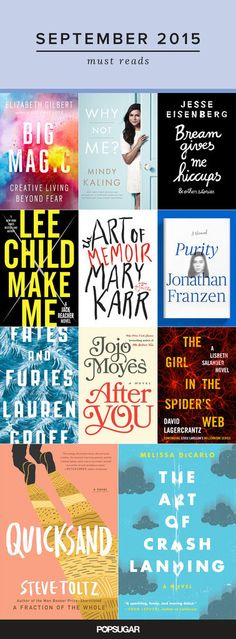 11 New September Books You Need to Read: The best way to get in the back-to-school spirit is with a shelf piled with new books, so we're taking a look at all the must-read titles coming out in September.