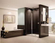Showers without Doors With Sink Wall